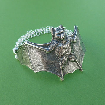 large silver bat cuff bracelet sterling silver chain