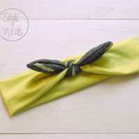LIME Top Knot Headband Bow Headband Knot Toddler Headband Head Wrap Baby Bow Headband Newborn Knot Headband