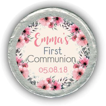 Watercolor Communion Chocolate Coins