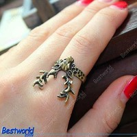 Retro Vintage Style Bronze Women's Lovely Deer Ring