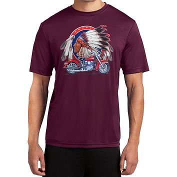 Indian Motorcycle T-shirt Big Chief Moisture Wicking Tee