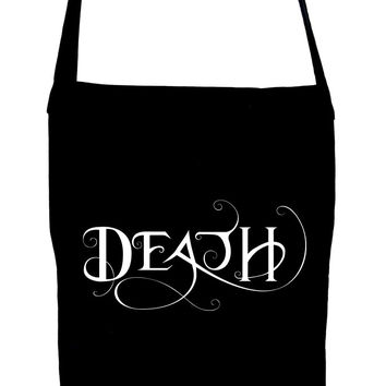Death Being the End Sling Bag Occult Gothic Clothing Book Bag