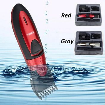 Professional Rechargeable Waterproof Electric Hair Trimmer Cutting Machine