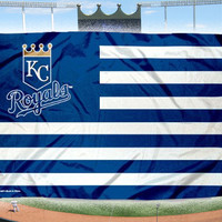 Kansas City Royals USA Stars and Stripes MLB baseball KC Flag 3X5FT