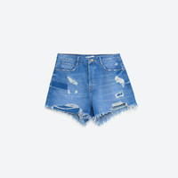 RIPPED DENIM SHORTS - COLLECTION-TRF-COLLECTION AW16 | ZARA United States