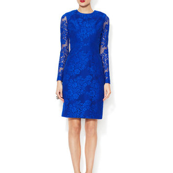 Corded Lace Seamed Dress
