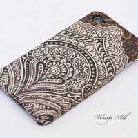 Vintage Bali pattern iPhone 4 case / Floral Bali by WrapAll