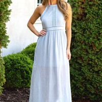 Dusty Miller Maxi Dress | Monday Dress