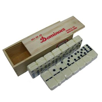 Wooden box high quality domino 28 PCS Pai Gow Toy game table game toys for children and adults learning & education board game