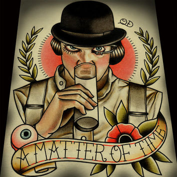 "A Matter of Time (A Clockwork Orange) Art Print 11""x14"""