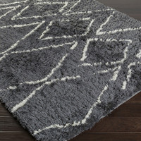 Scout Area Rug | Gray Shag Rugs Hand Tufted | Style SCO3004