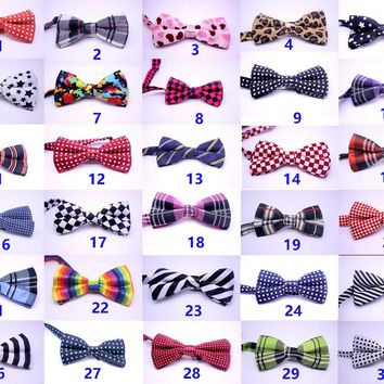 30pcs Large dog Bowtie pet dog cat neck ties  Fashion Formal Bobbon Bow Tie pet bowties  for Wedding Party supplies