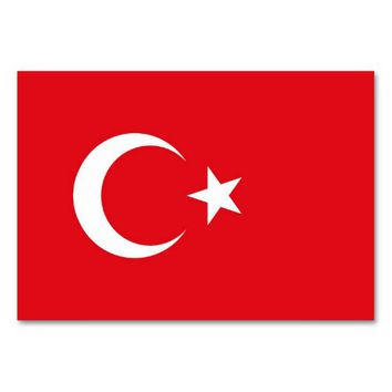 Patriotic table card with Flag of Turkey
