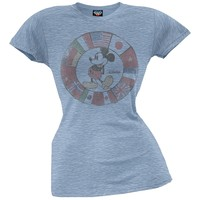 Mickey Mouse - Flags Juniors T-Shirt