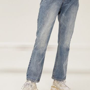 Acid Washed Flare Jeans