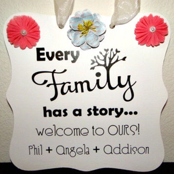 Family Name Sign - Welcome Sign, Home Decor, Wall Art, Personalized Gift, Custom Wooden Sign