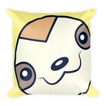 Sloth Face - Get Sloth'd - Square Pillow