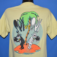 80s Spy Vs Spy Mad Magazine Desert Island t-shirt Medium