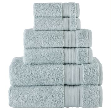 Sea Mist Turkish Spa Collection 6-pc Cotton Towel Set