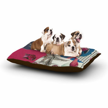 "Jina Ninjjaga ""Flamingo Attack"" Pop Art Dog Bed"
