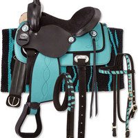 Saddles Tack Horse Supplies - ChickSaddlery.com King Series Synthetic Western Zebra Saddle Package
