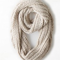 AEO Women's Loop Scarf (Oatmeal Heather)