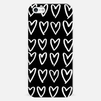 BW Hearts iPhone 5 case by DuckyB | Casetify