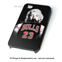 Chicago Bulls Jersey Marilyn Monroe iPhone 4 4S 5 5S 5C 6 6 Plus , iPod 4 5  , Samsung Galaxy S3 S4 S5 Note 3 Note 4 , and HTC One X M7 M8 Case