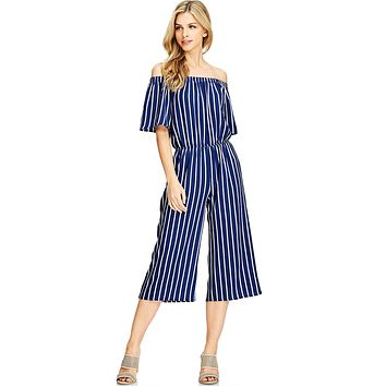 Marine Cropped Jumpsuit