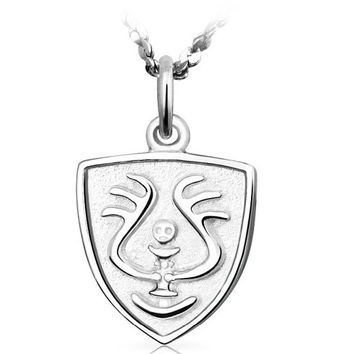 Laputa: Castle In The Sky 925 Sterling Silver White Gold Plated Magical Stone Robot Pendant Necklace Cosplay