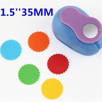 "free shipping 1.5""(3.8cm) Wave circle EVA foam punch craft punch greeting card handmade puncher Scrapbook Handmade puncher"