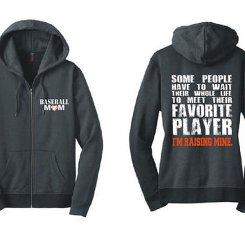 Baseball Mom Zip Hoodie Favorite Player Baseball Mom Shirt Baseball Mom Gift Team Mom For Her For Mom Baseball Shirt Mom Gifts DM490