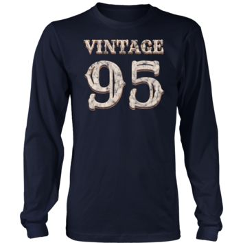 Men's Vintage 95 Long Sleeve Tshirt 23rd Birthday Gift for 23 Year Old