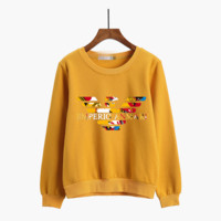 """Armani"" Women Casual Multicolor Logo Letter Print Thickened Long Sleeve Sweater Tops"