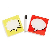 Molla Space 'Bubble Text' Rewriteable Coasters (Set of 2)