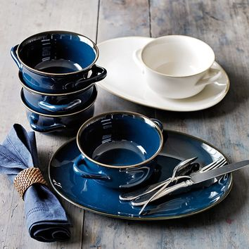 Farmhouse Double Handle Bowls, Set of 4
