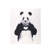 Hand Heart Panda Bear Wall Tapestry