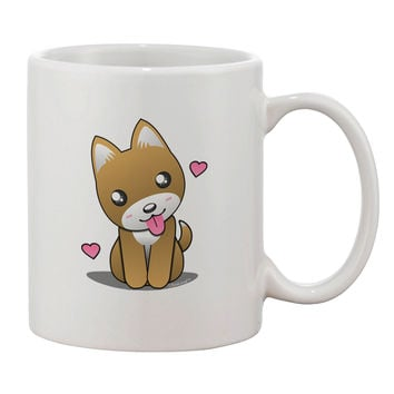 Kawaii Puppy Printed 11oz Coffee Mug