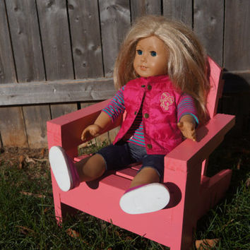 Adirondack Lawn Chair for American Girl Doll or 18-inch Dolls