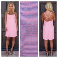 Shoreside Coral Stripe Dress