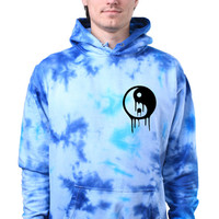 Yin and Yang Dripping Grunge Galaxy Trippy Tie Dye Sweatshirt Hoodie Jumper
