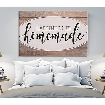 Homemade Custom House Wall Art Sign Canvas Print Personalized House Gift