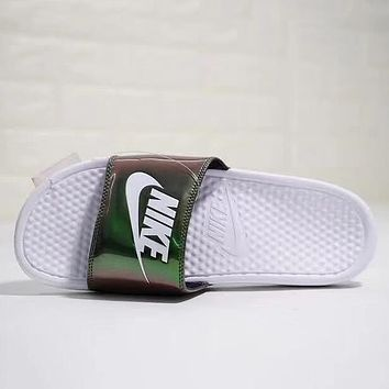 Nike Benassi Slide JDI Print Woman Men Fashion Slipper Sandals Shoes