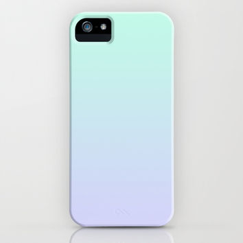 Lilac & Aquamarine Ombre iPhone & iPod Case by Jamie Danielle