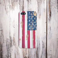 Chipped American Flag Case for iPhone 6 6 Plus iPhone 5 5s 5c 4 4s Samsung Galaxy s6 s5 s4 & s3 and Note 5 4 3 2