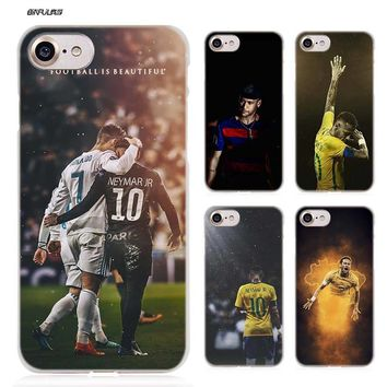 BiNFUL Soccer player Neymar 10 Hard Clear Case Cover Coque for iPhone X 6 6s 7 8 Plus 5s SE 5 4s 4 5c