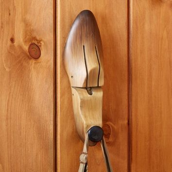 Gepetto Shoe Stretcher Wall Hook with Faux Wood Finish - 11-in