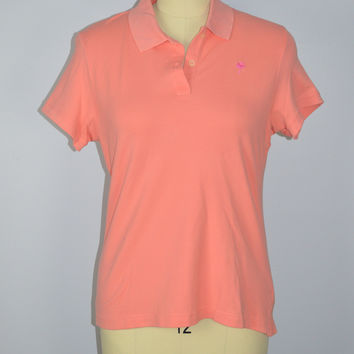 Lilly Pulitzer Polo Shirt Peach Size Large