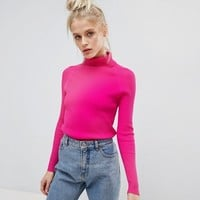 E.L.K Skinny Rib Jumper With Roll Neck at asos.com