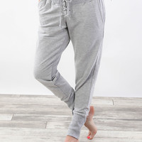 Luxe Lace Up Joggers